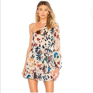 Tularosa New Ina Floral Ombre One Shoulder Dress